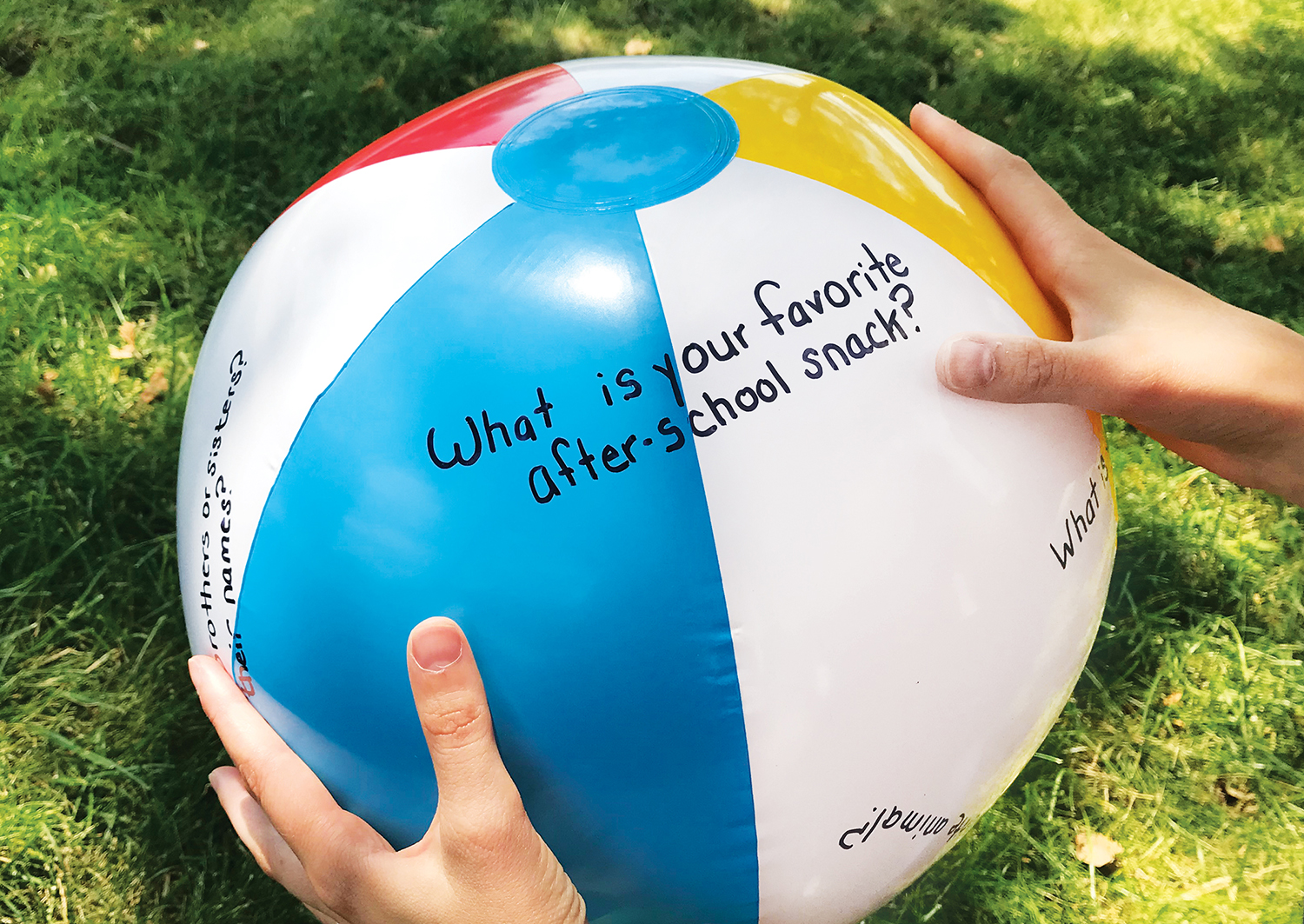 Beach Ball Icebreaker Game
