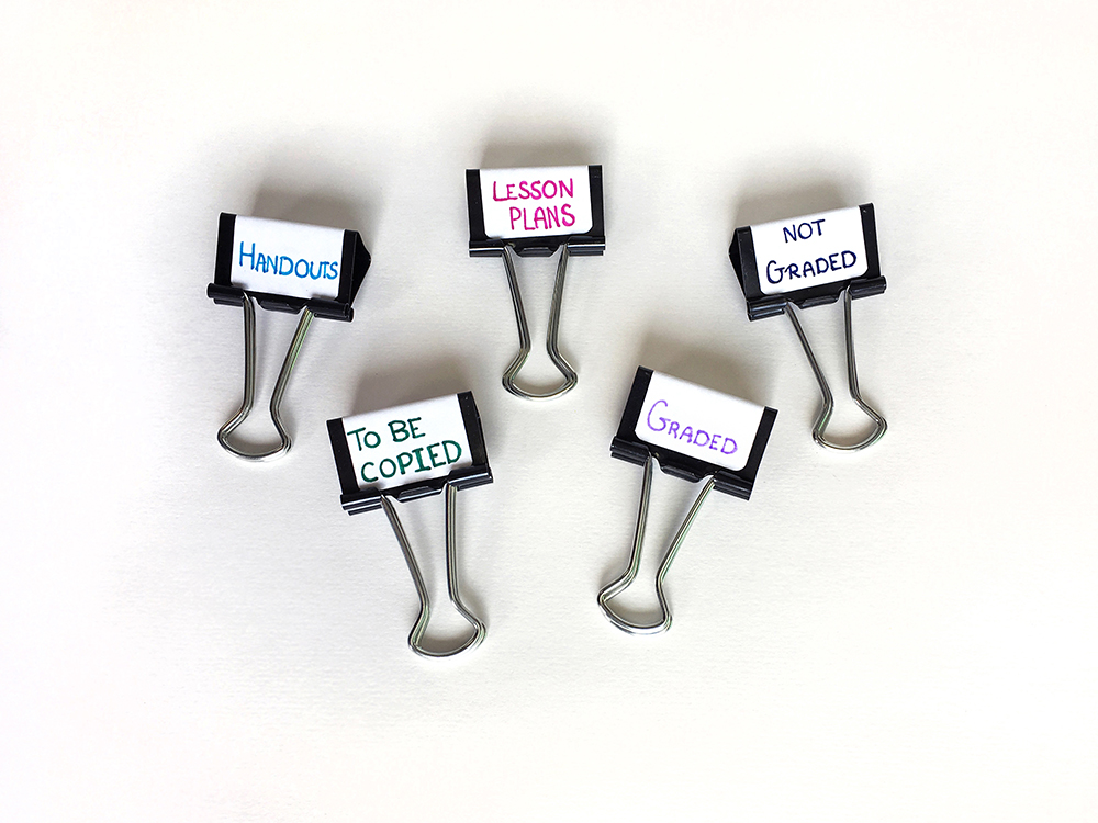 DIY Binder Clip Labels