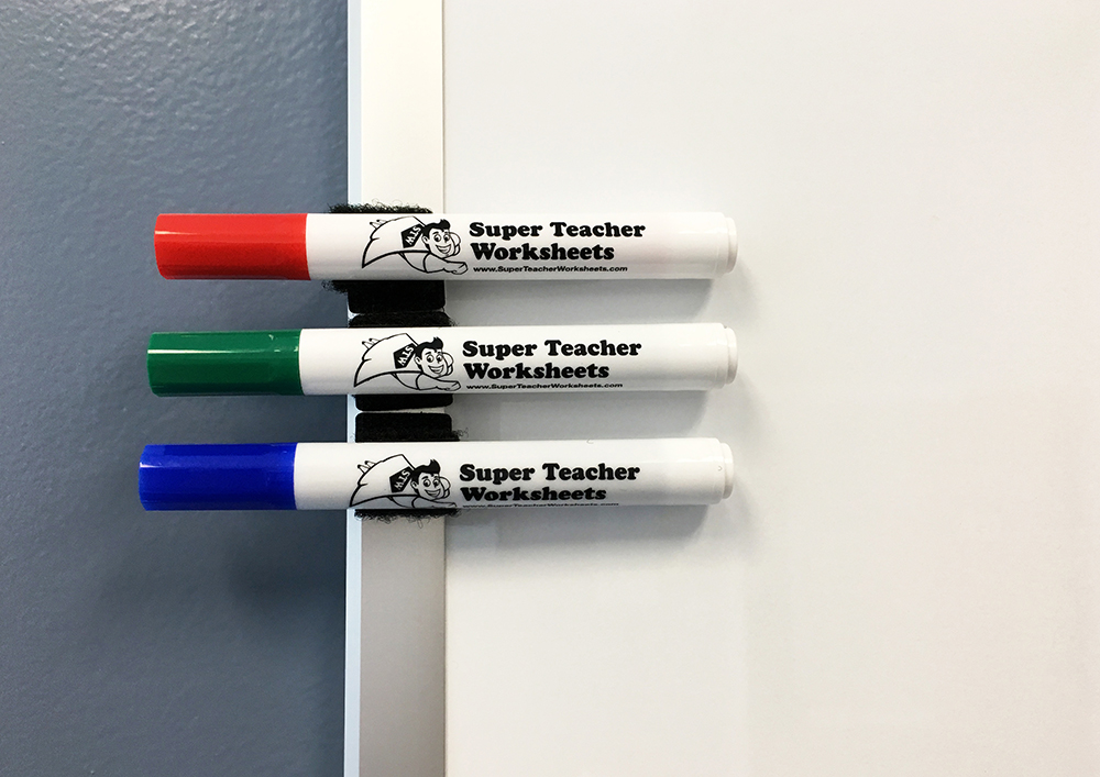 DIY Velcro Holders for Dry Erase Markers