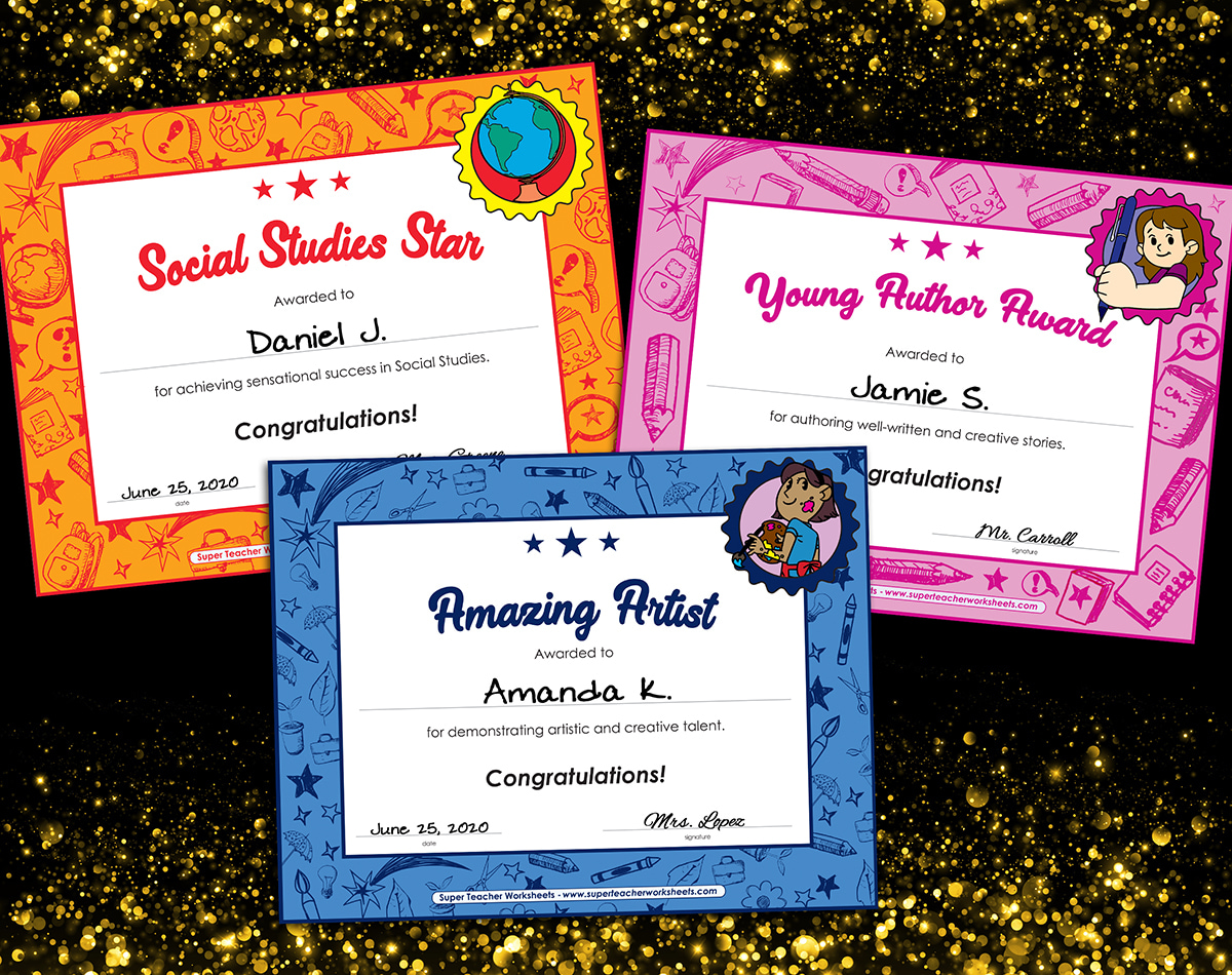 Printable Student Awards