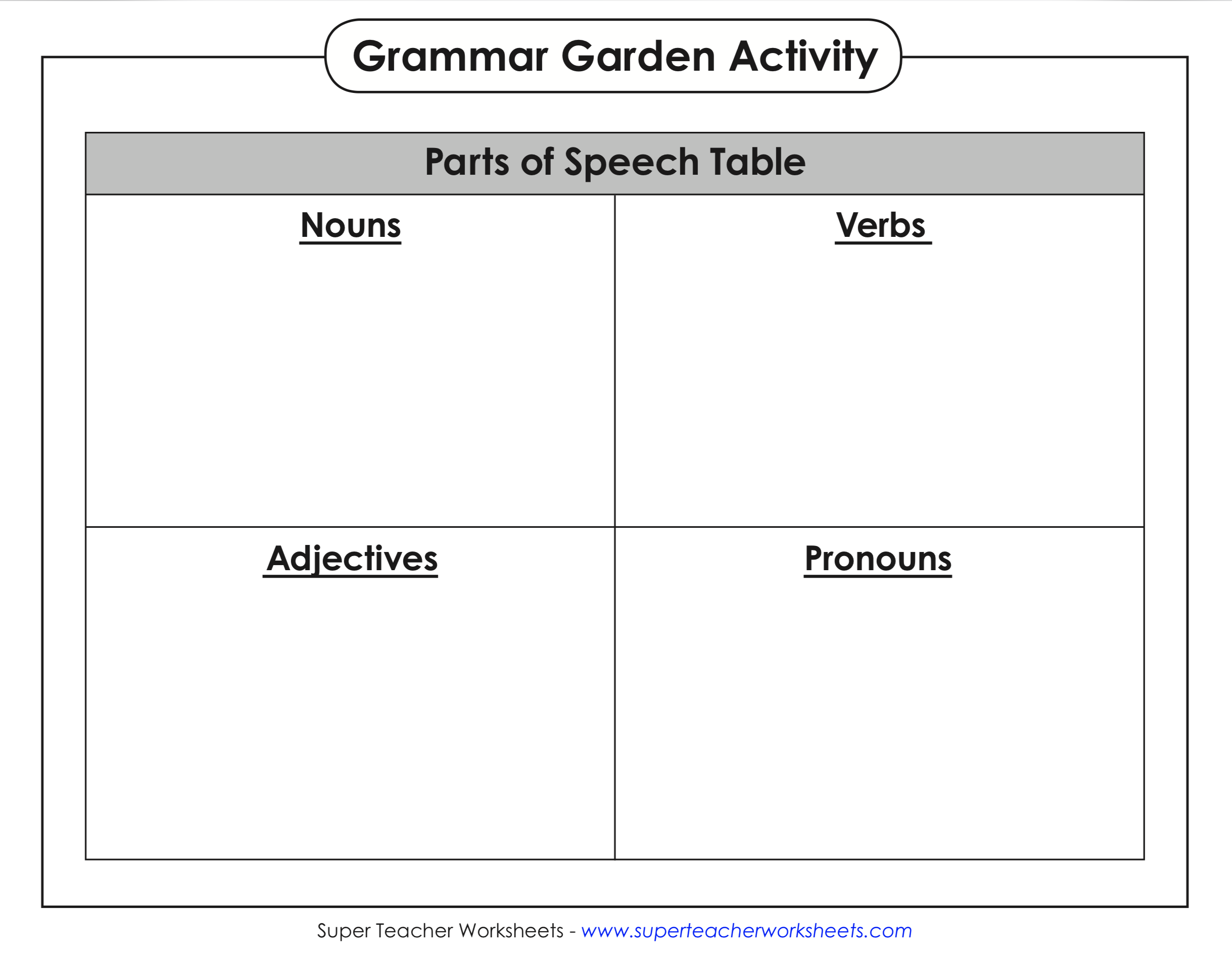 Basic Grammar Activity