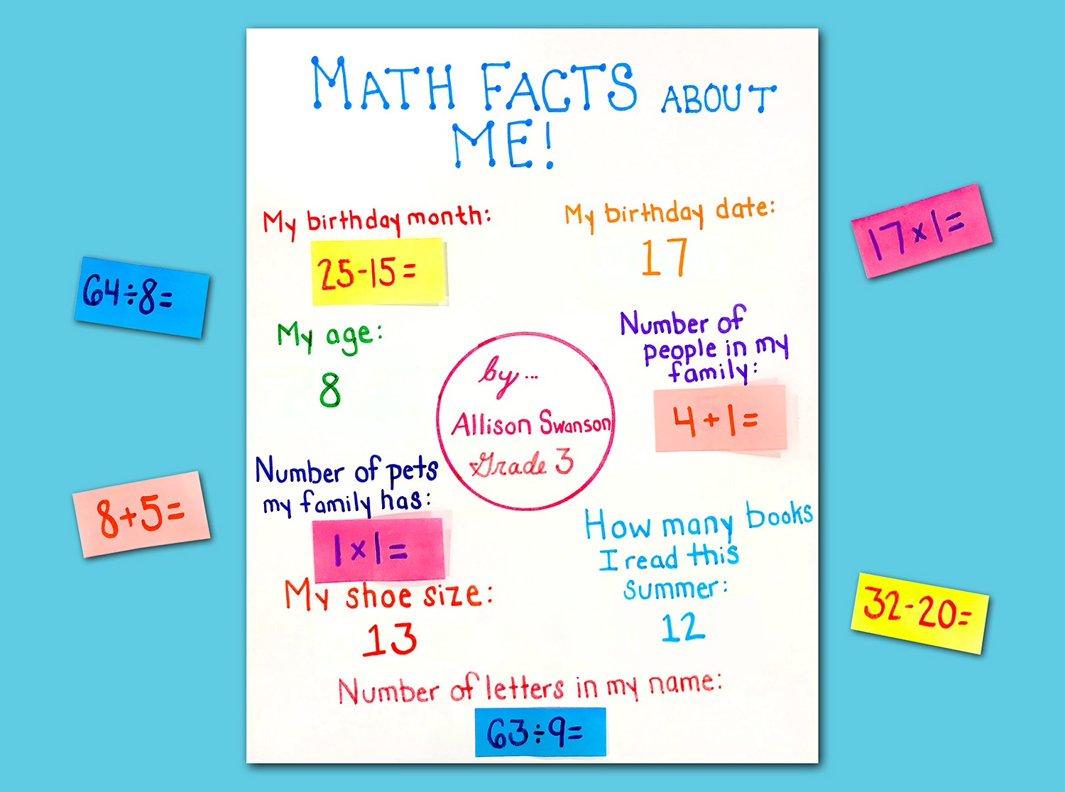Math Facts Back to School Game