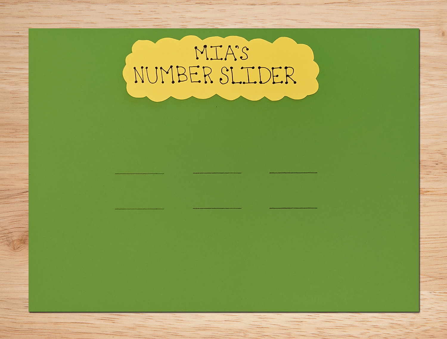 Number Sliders Activity