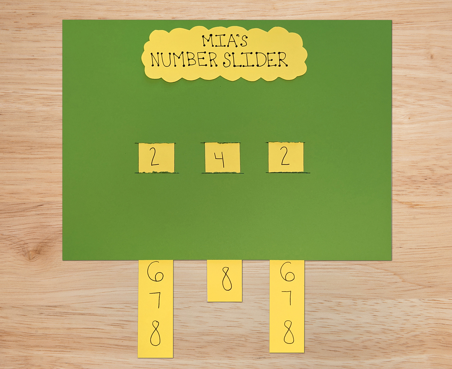 Practice Math Skills with Number Sliders