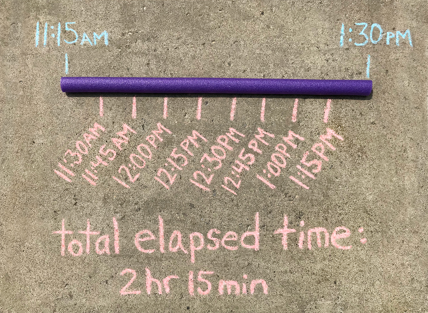 Pool Noodle Elapsed Time Game