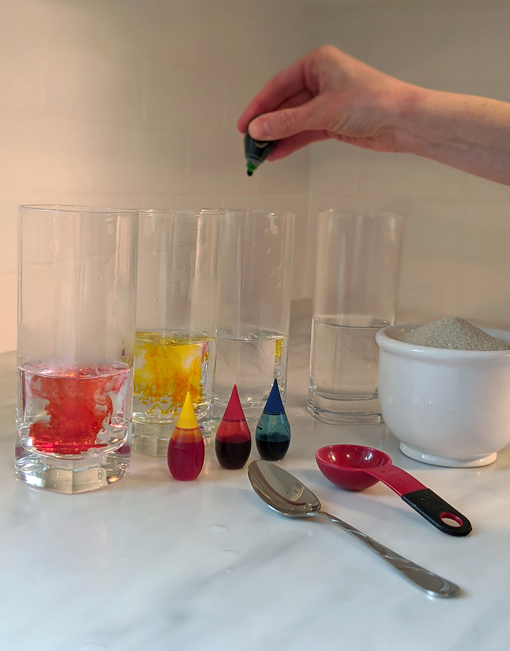 Rainbow Density Science Experiment