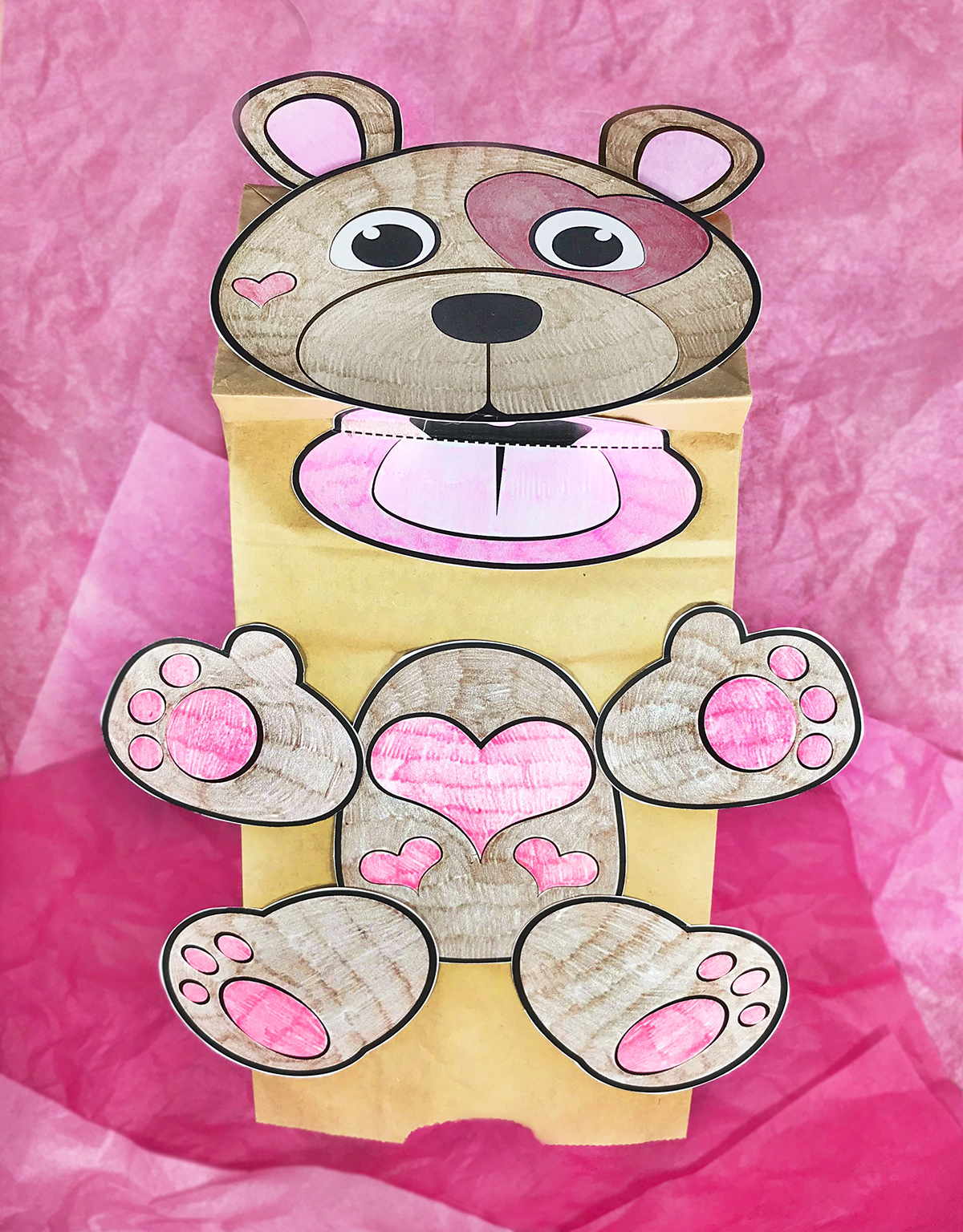 Printable Valentine Bear